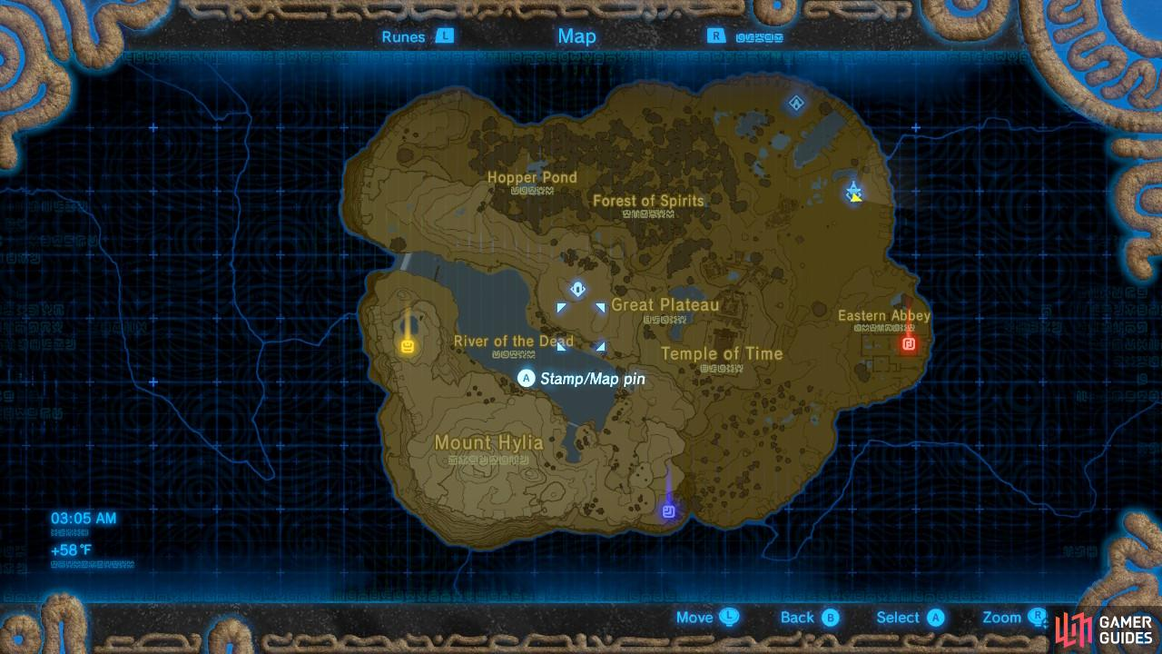 The pins will also be marked on your mini-map and the map on your Sheikah Slate. Handy!