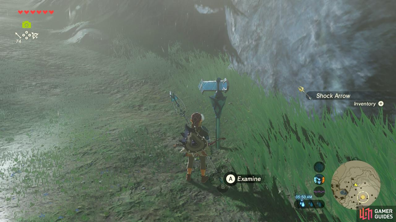 This signpost is a sign that you are nearing where the supposed Lynel is