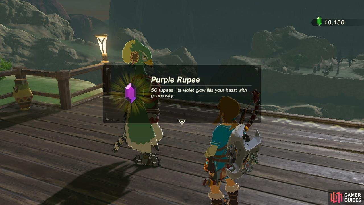 As a reward for settling her worries, she will give you a purple Rupee