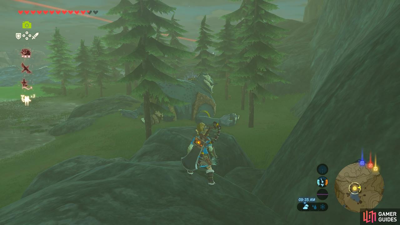 Hinoxes are actually scattered all around Hyrule, and they are always sleeping