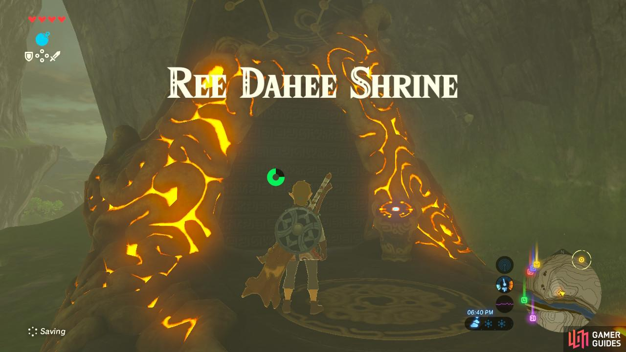 Ree Dahee Shrine is within the Dueling Peaks valley