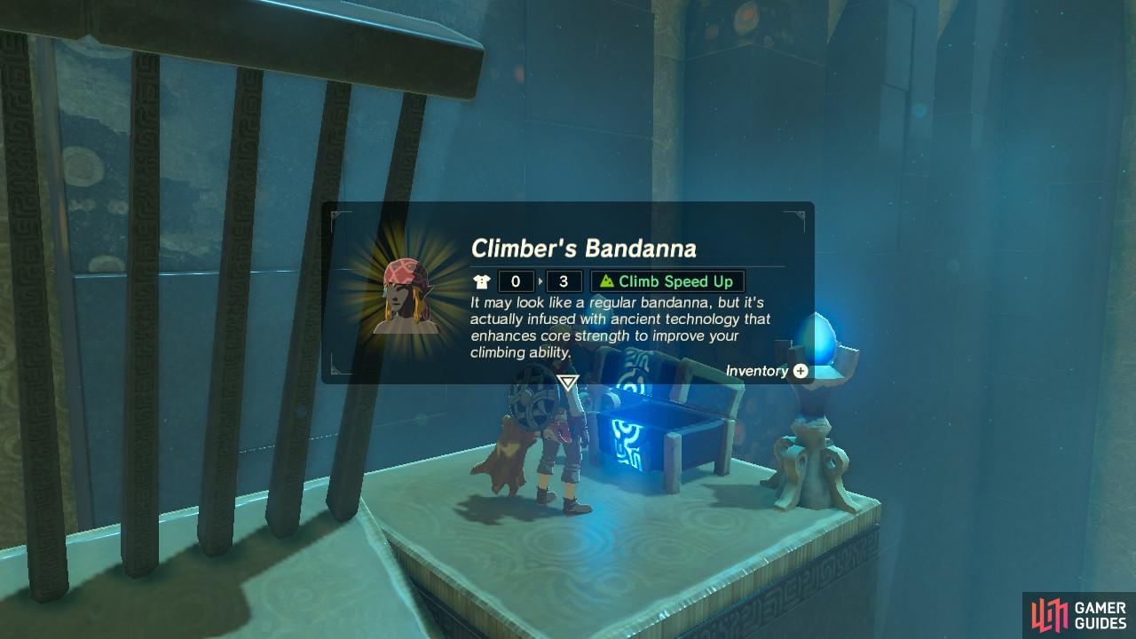 The Climber's Bandana is really useful especially when you have only one wheel of stamina
