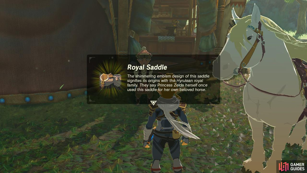You will receive special royal gear specifically for this horse