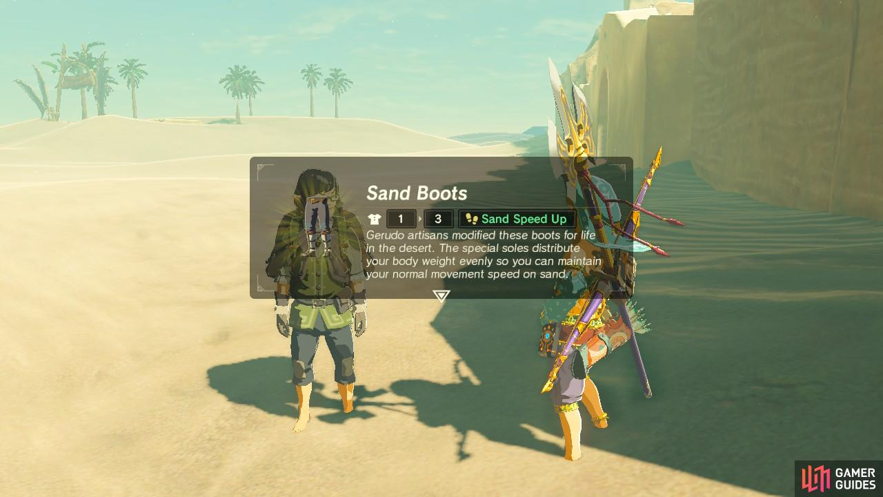 You will be gifted the Sand Boots as promised