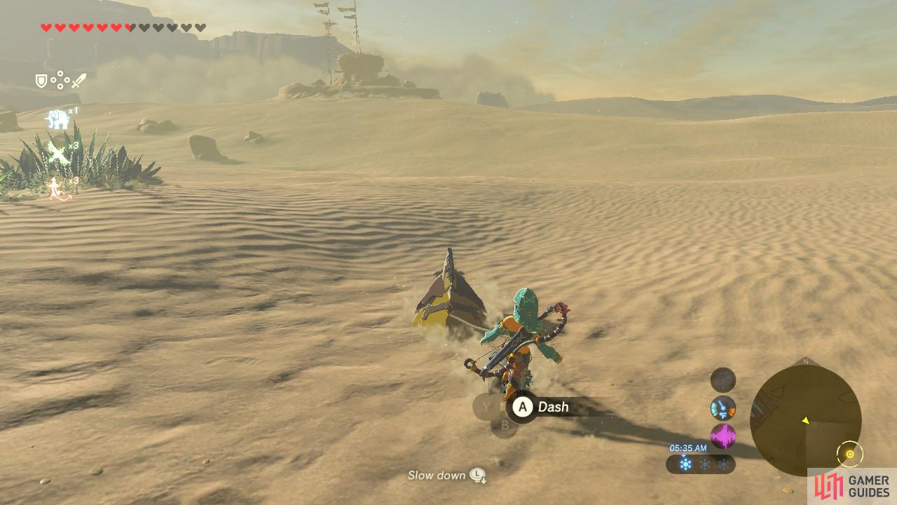 Ride a sand seal for a faster way to the post! Or you can go by foot
