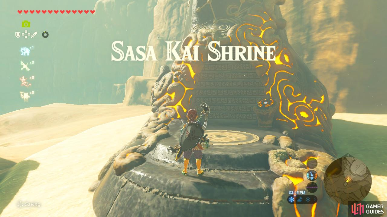 "Complete ""Sign of the Shadow"" from Kass to reveal this Shrine"