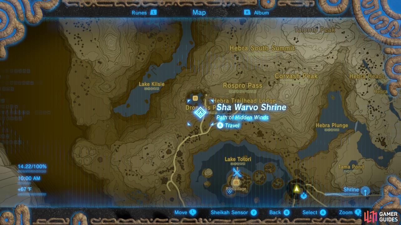 This is the specific location of the Sha Warvo Shrine