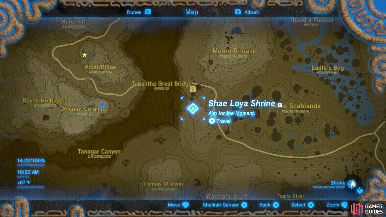 Here is the specific location of the Shae Loya Shrine