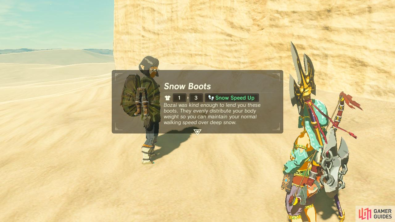 You can use these Snow Boots just to help you get to the statue faster