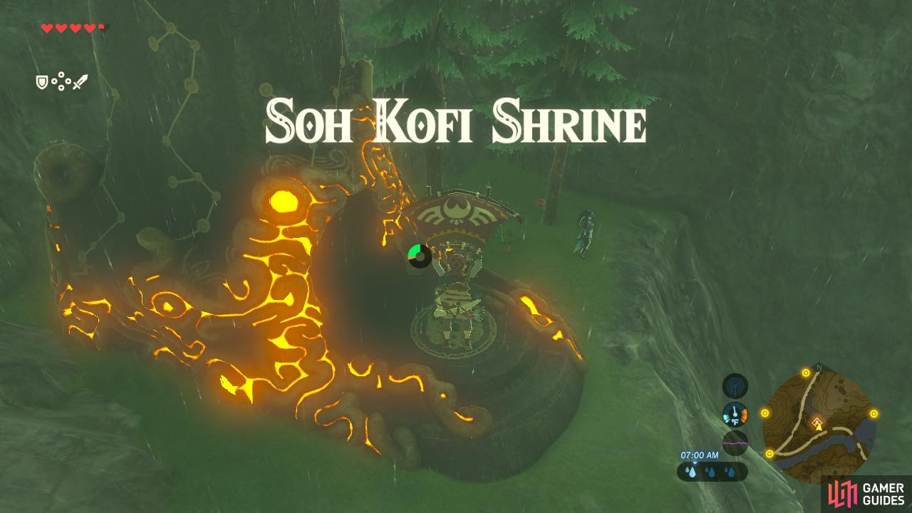 "This Shrine is near where ""Reach Zora's Domain"" kicks off"