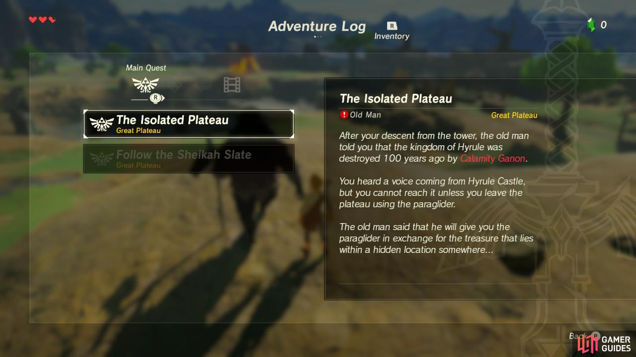 The Isolated Plateau Walkthrough The Legend Of Zelda Breath Of