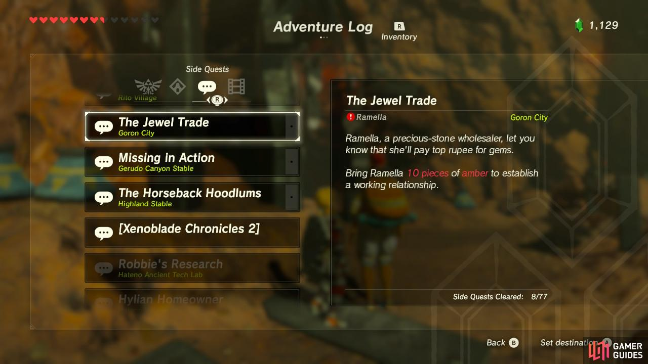 This is another simple fetch and trade sidequest