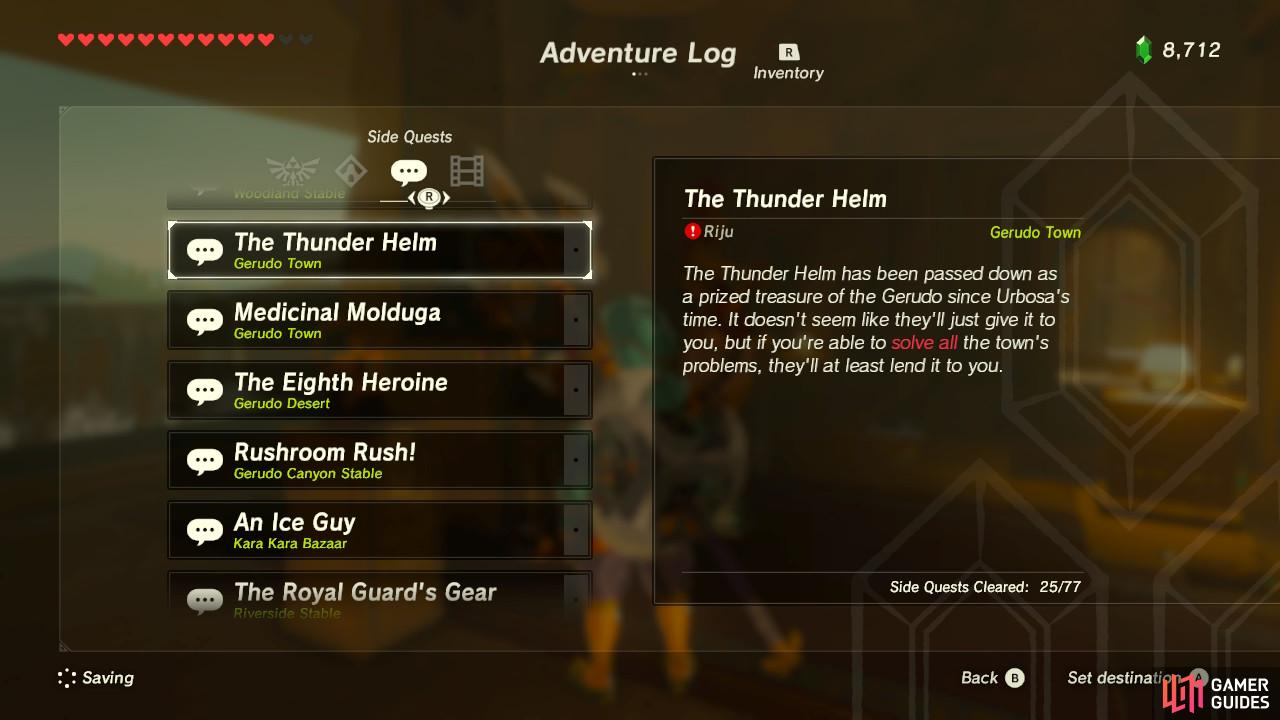 This sidequest is basically an umbrella sidequest requiring you complete other tasks