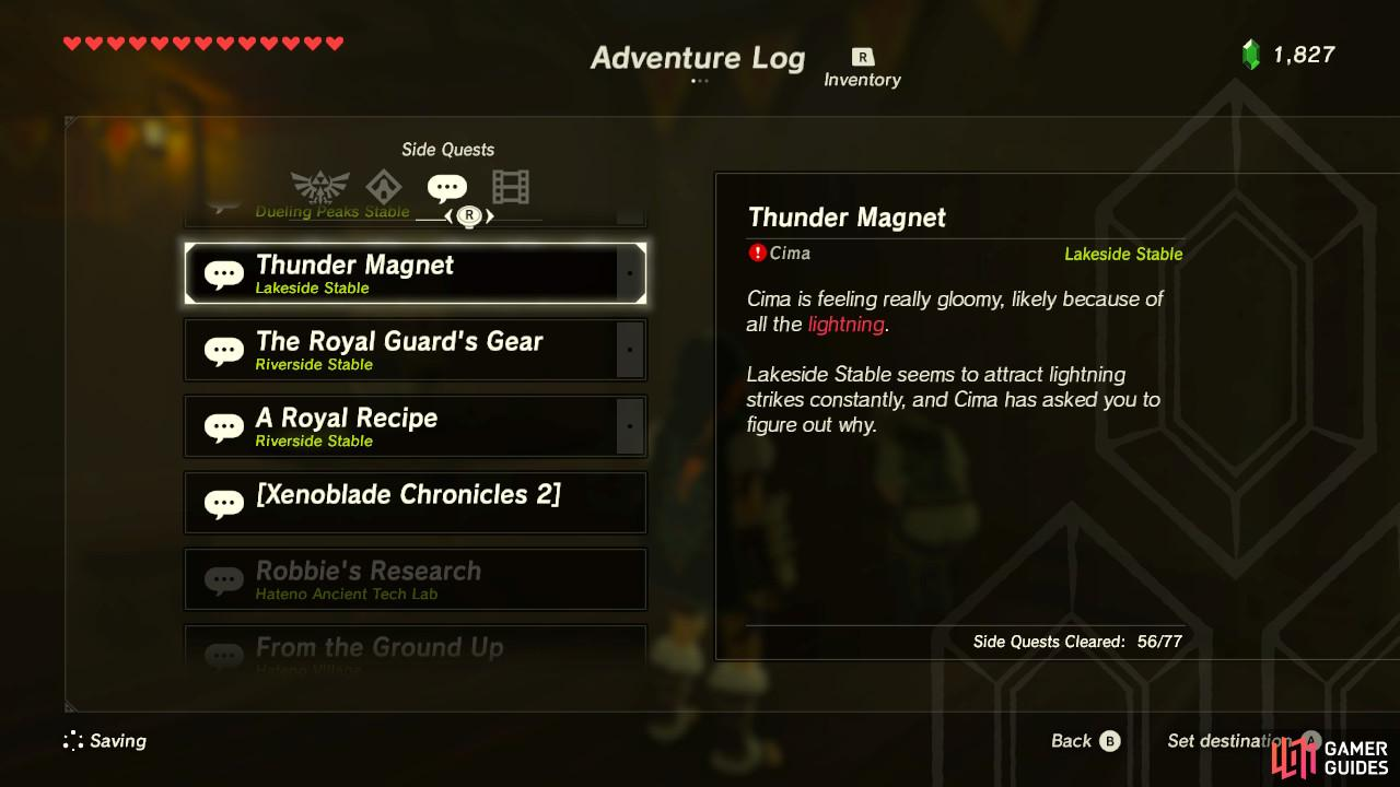 This sidequest is very simple. You don't even have to leave the stable.