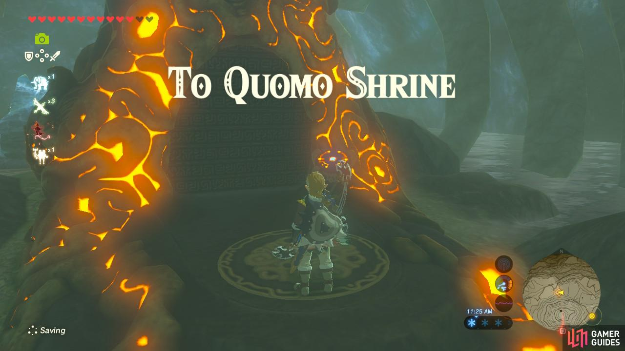 This Shrine has no quest, but it certainly has a long puzzle before you will find it
