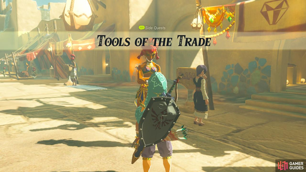 This sidequest unlocks the jewelry accessory shop in Gerudo Town