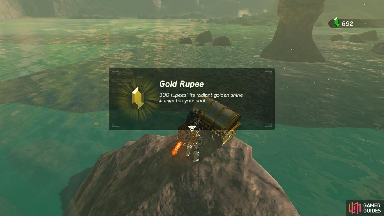 You will get yourself a shiny gold Rupee!