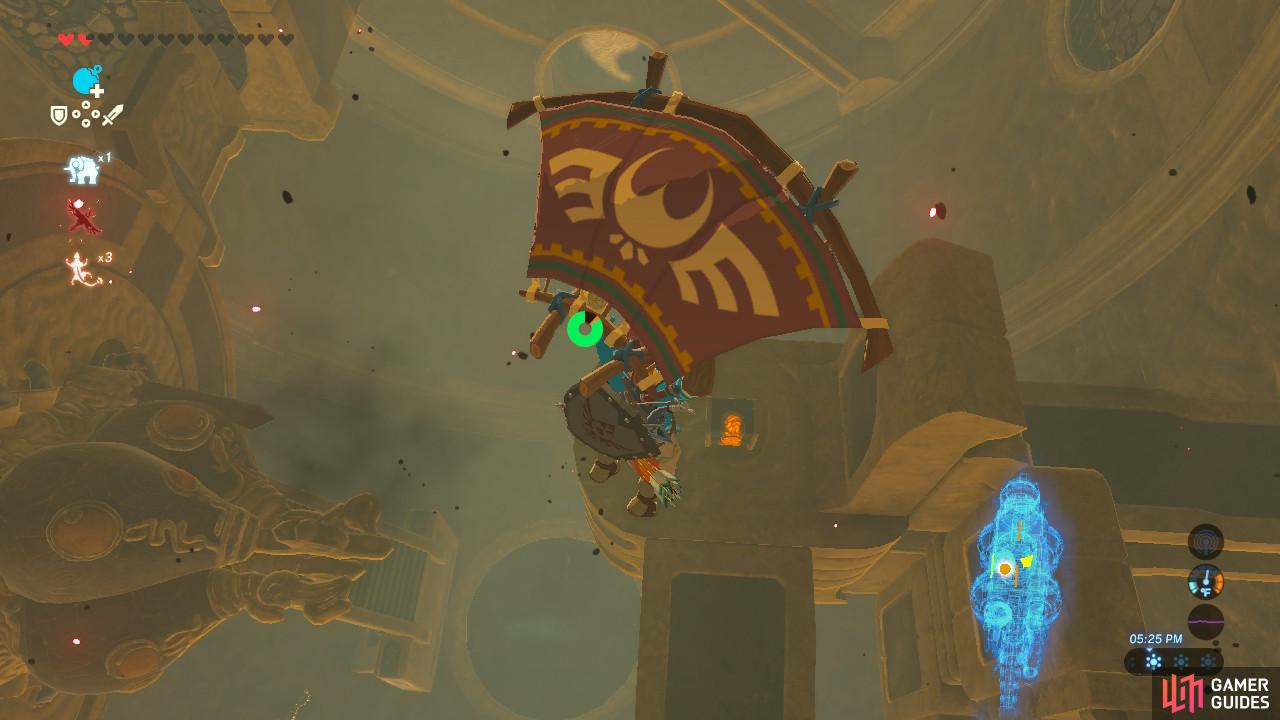 Revali's Gale is by far the easiest way to access them once you rotate the cylinders