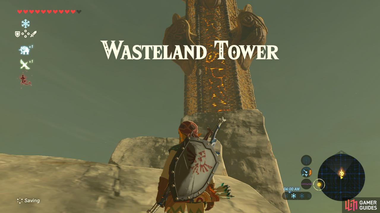 The Wasteland Tower is, fittingly enough, in a pool of toxic who-knows-what.