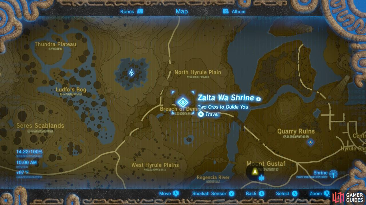 This is the location of Zalta Wa Shrine