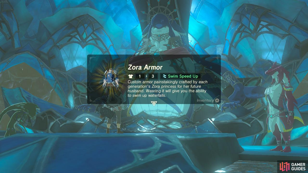 The Zora Armor will open up a lot more of Hyrule to you for exploration.