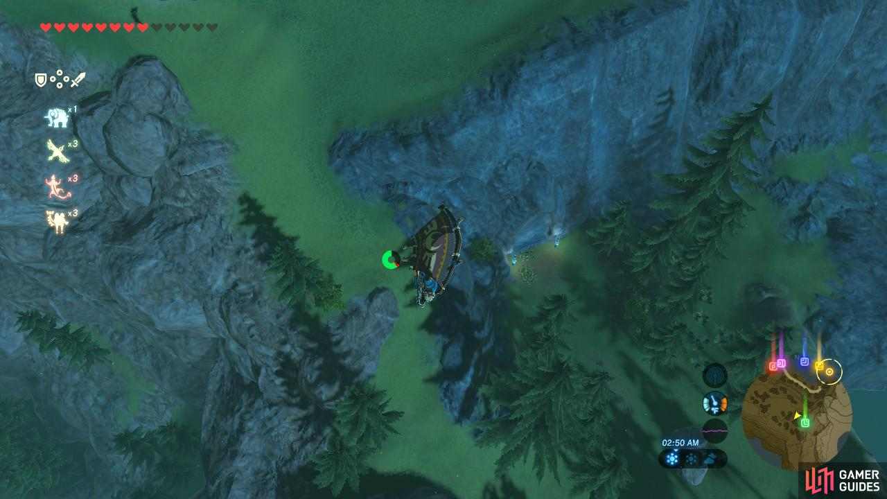 You can Paraglide from Divine Beast Vah Ruta's location
