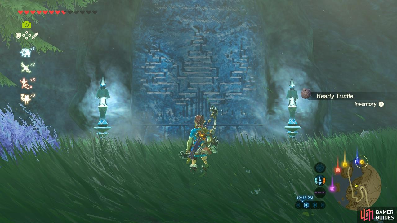 This monument actually gives a hint as to where the Zora Helm is located