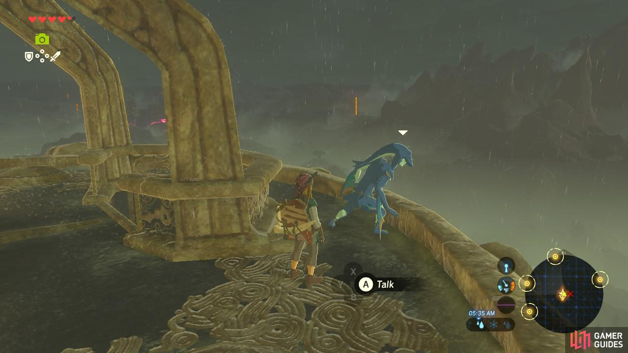 This Zora NPC will give you further directions on where to go to see Prince Sidon.