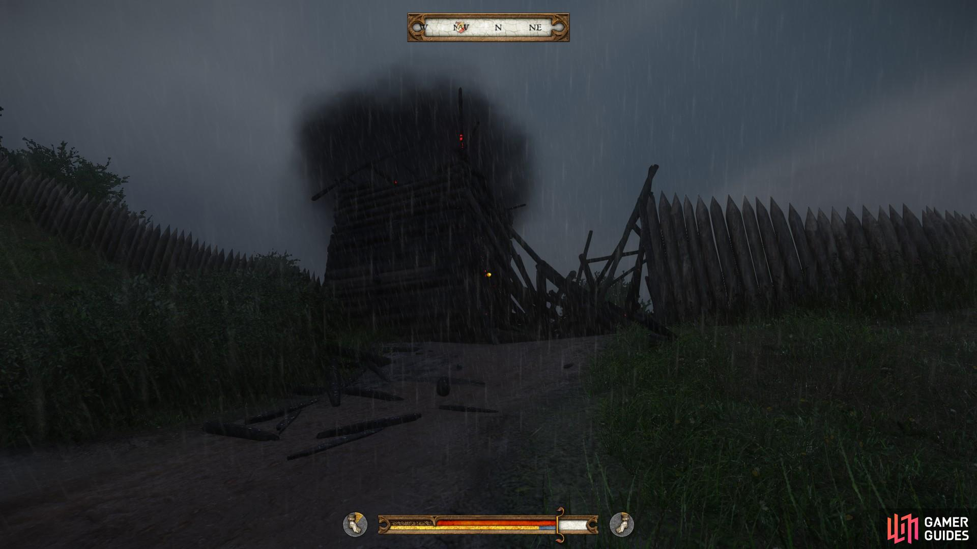 Skalitz is inaccessible from the southern gate. Head to the northern gate to gain access.