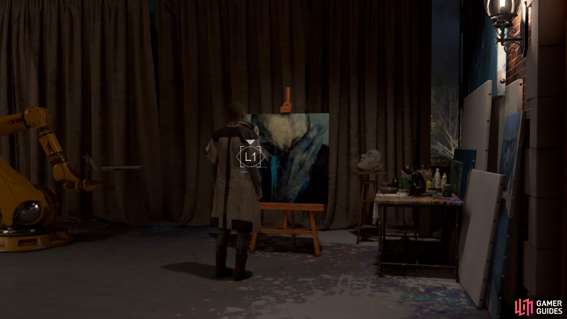 Look at the painting you made during 'The Painter'