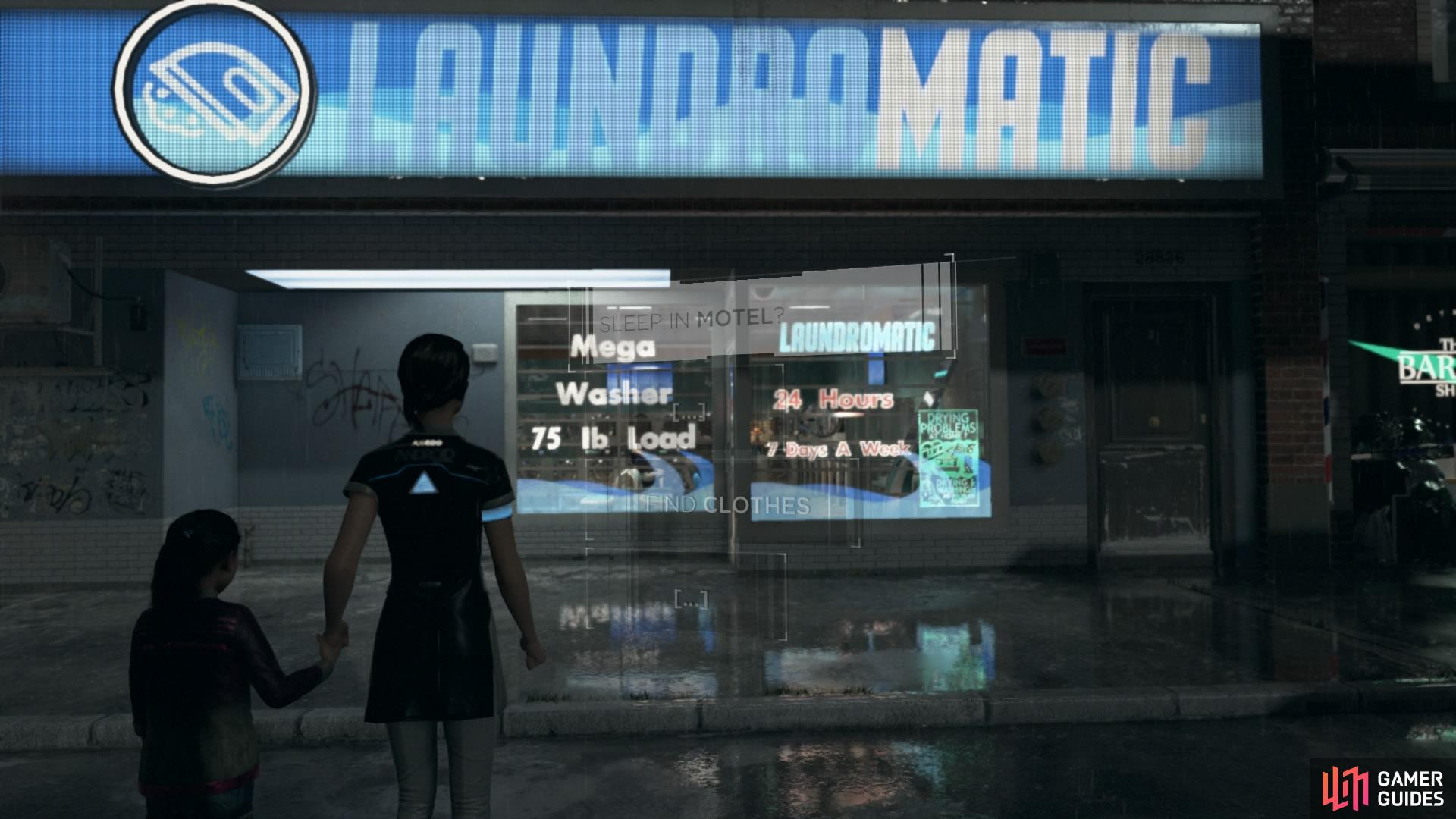 Enter the laundromat