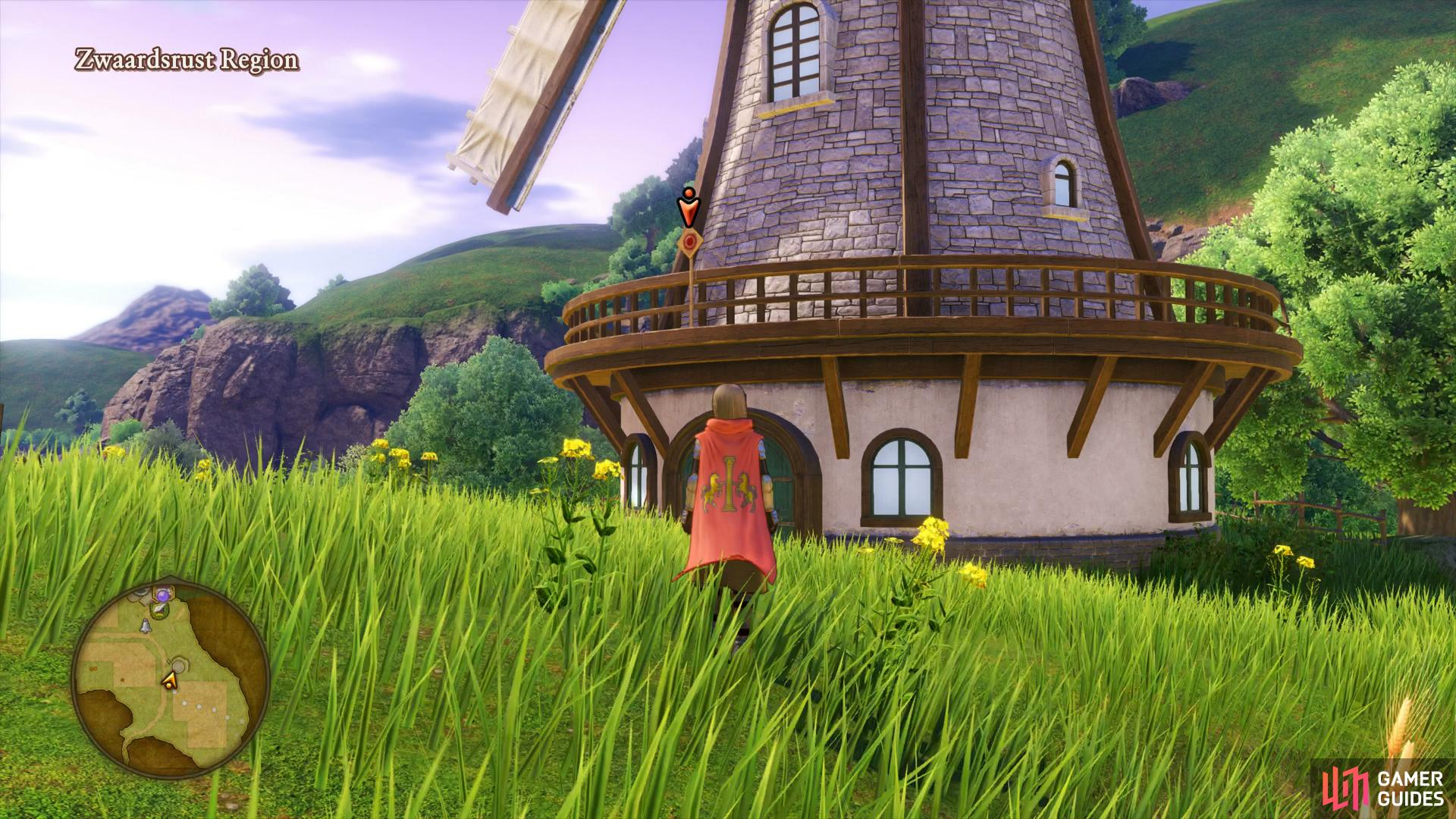 The first windmill you come to will have a Crossbow Target on