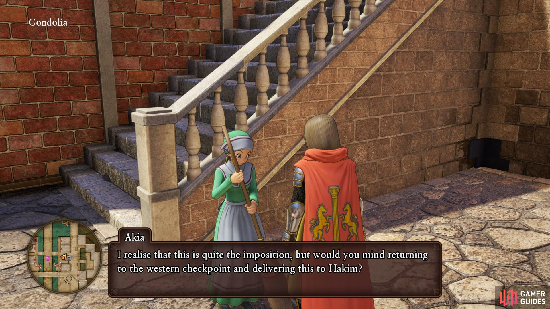 You'll find the girl, Akia, from Quest 09 just outside the Doge's house