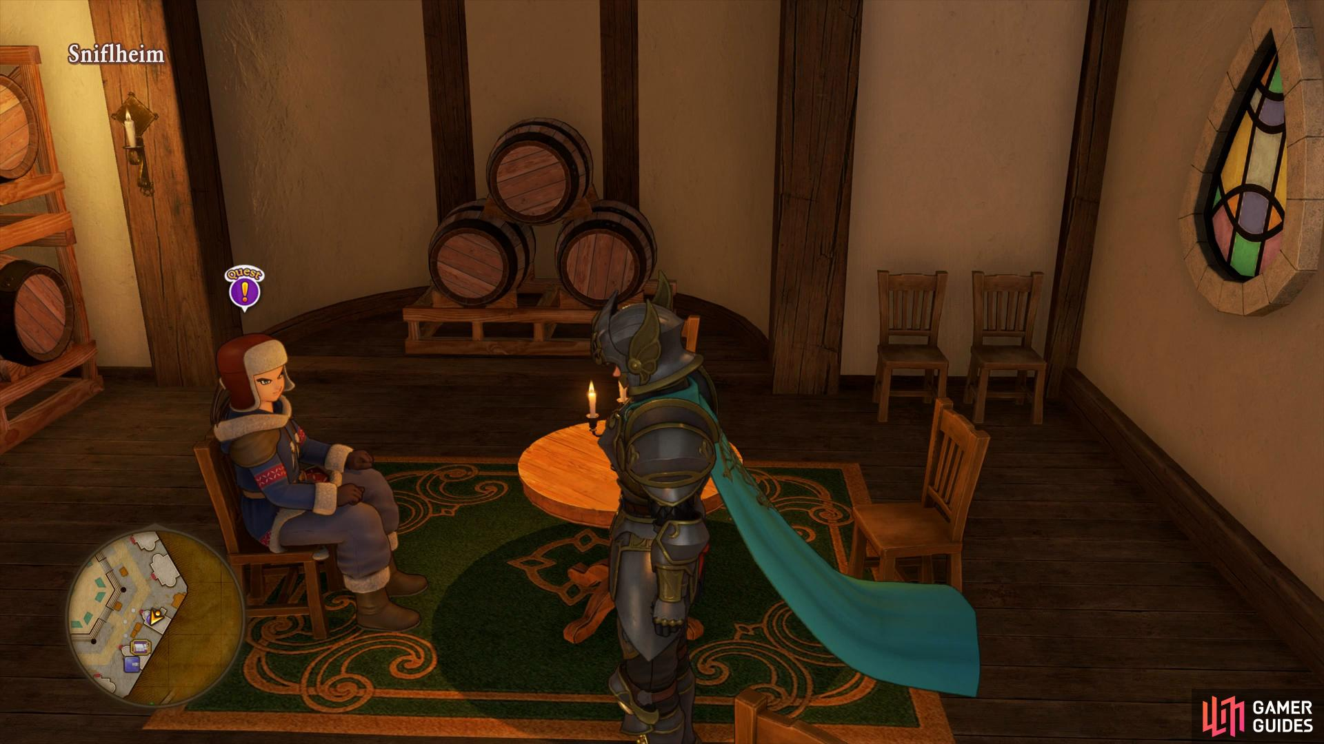 Inside the Tavern you'll find another quest to accept