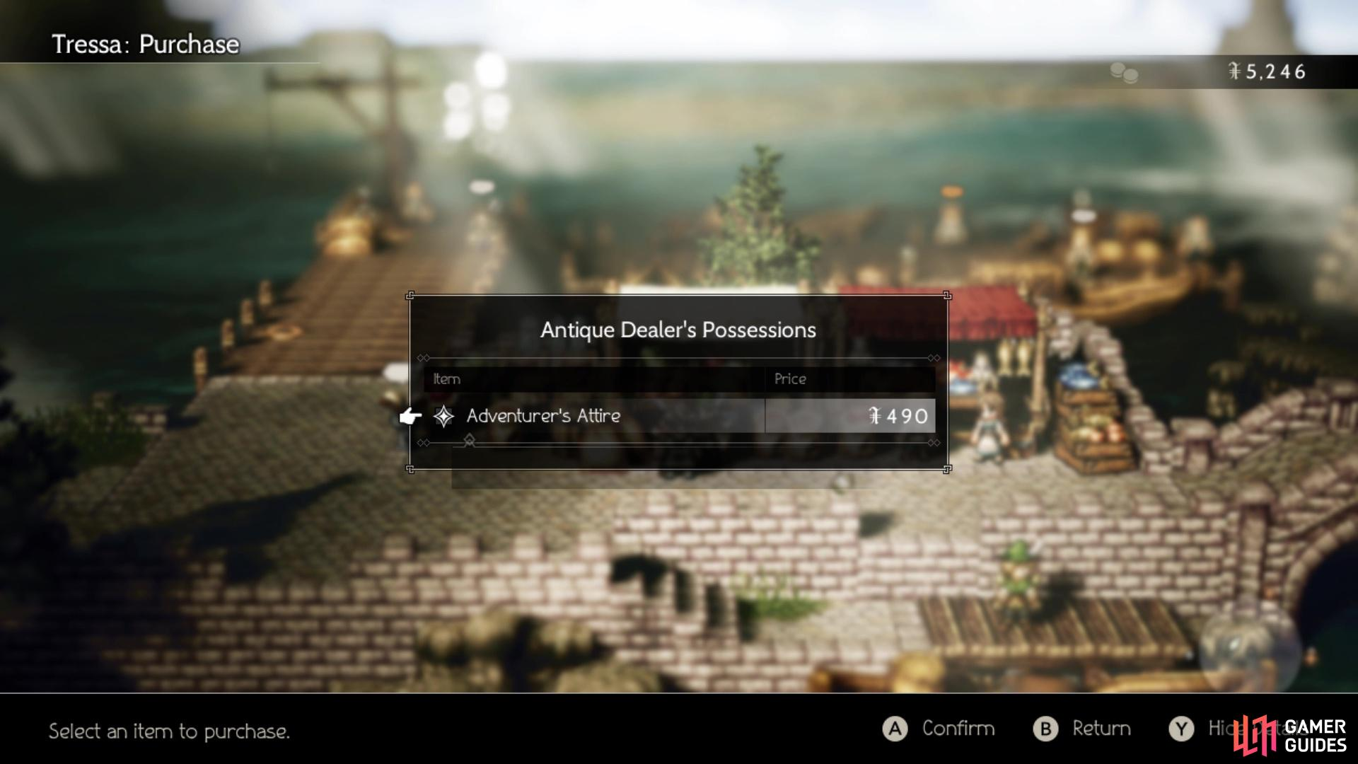 You can buy the Adventurer's Attire from the Antique Dealer for Le Mann