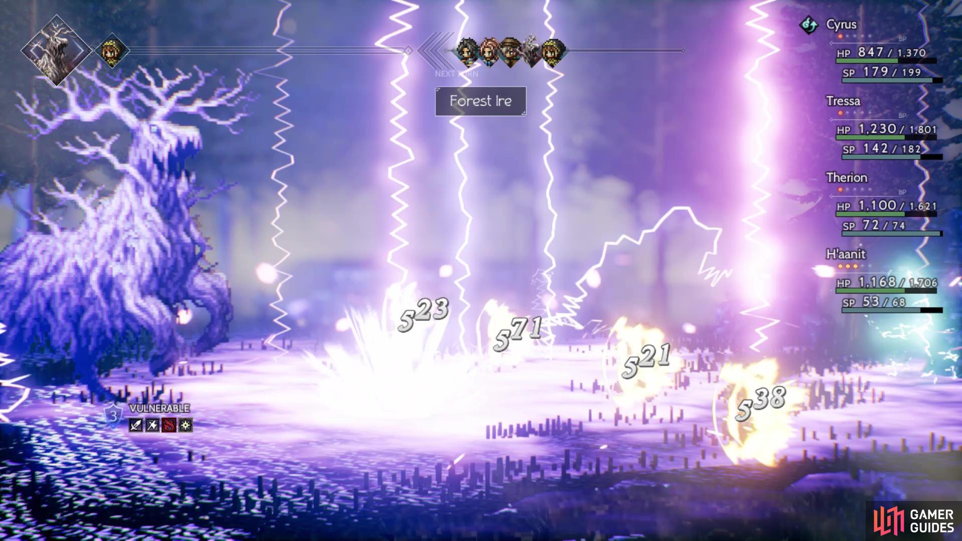 Its ultimate attack is a damaging lightning move on your entire party