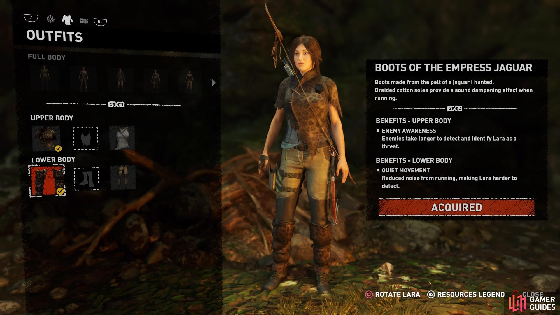 Customise Lara's outfit