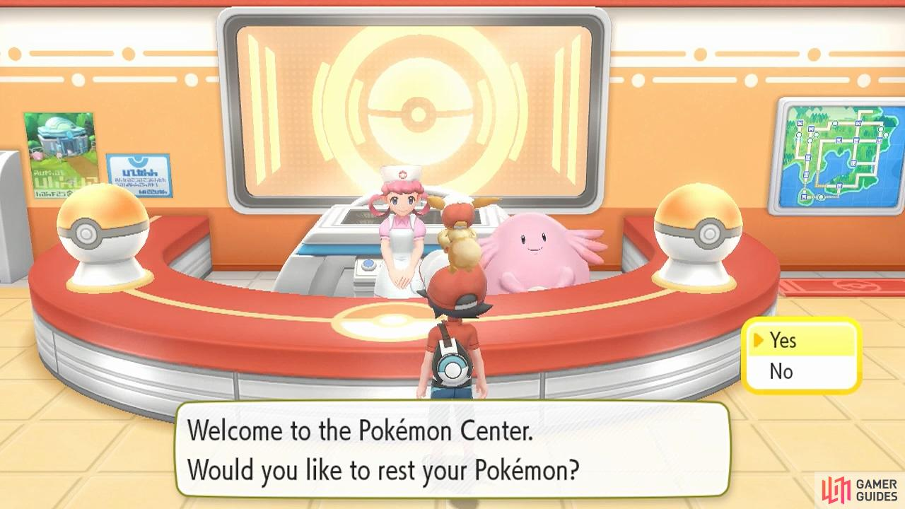 Pokémon Centres are like hospitals for Pokémon, and they're free to use!
