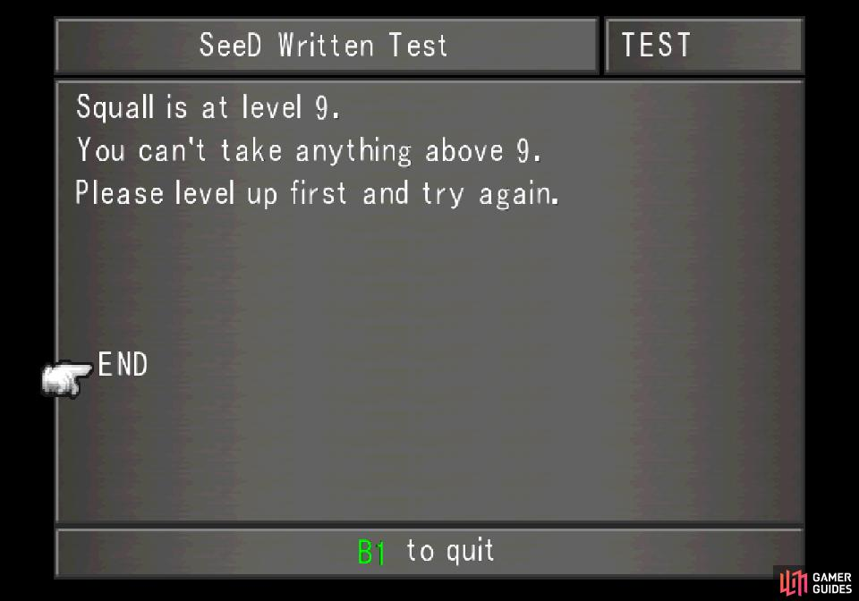 You can only take a number of tests equal to your level, however.