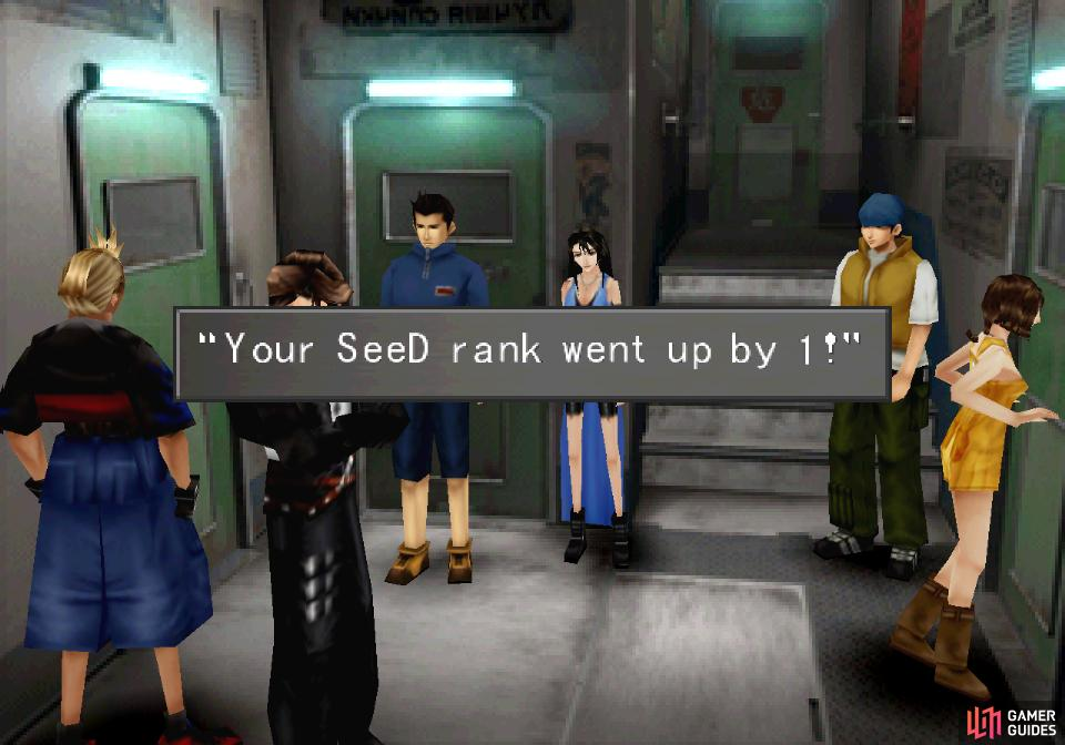 If you avoid being detected, you'll gain a SeeD rank