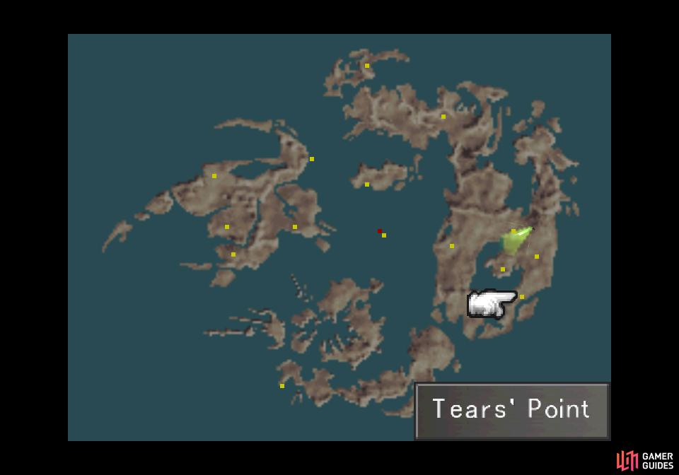Find Tear's Point on your world map