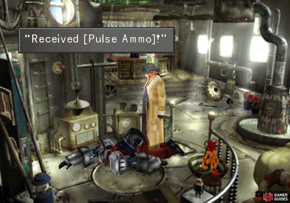 and search the Galbadian Officer to find an assortment of ammo, including Pulse Ammo