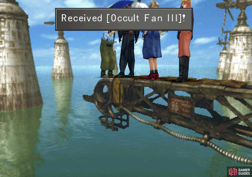 and talk to the Master Fisherman to acquire Occult Fan III