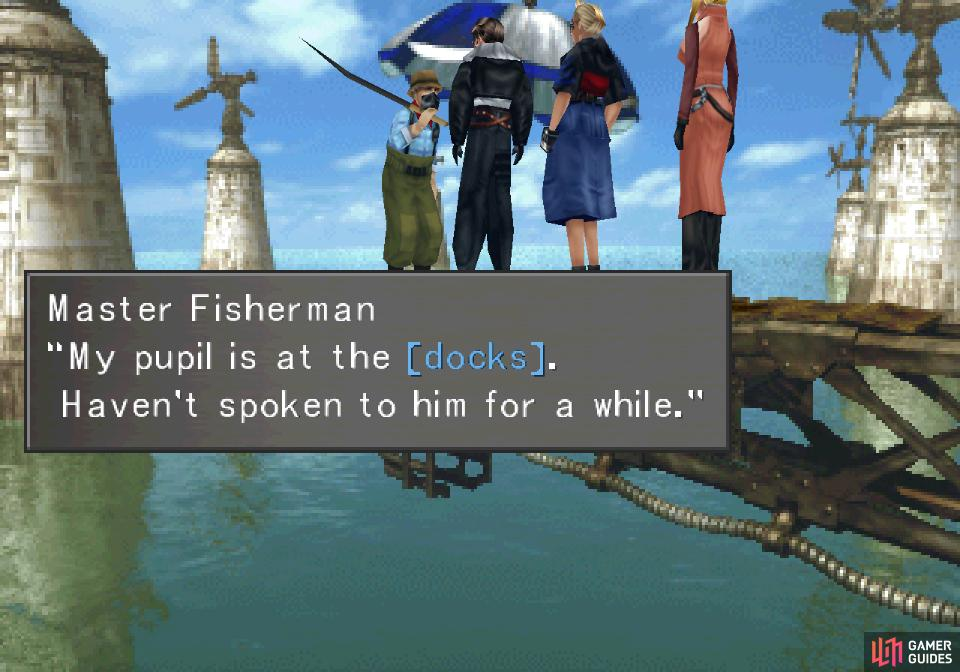 Continue talking to the Master Fisherman and he'll ask you to do a favor