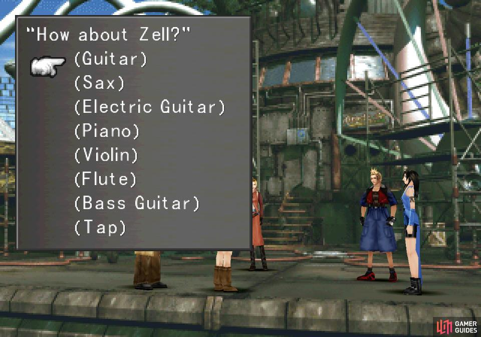 Which you'll do by assigning one instrument to each available character.