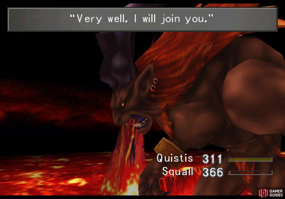Defeat Ifrit and he'll submit to you