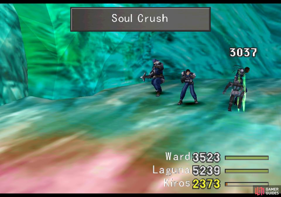 For plot reasons, at the end of the battle the final soldier will counterattack with a Soul Crush attack
