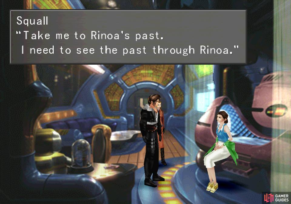 Squall will ask Ellone for a means to help Rinoa