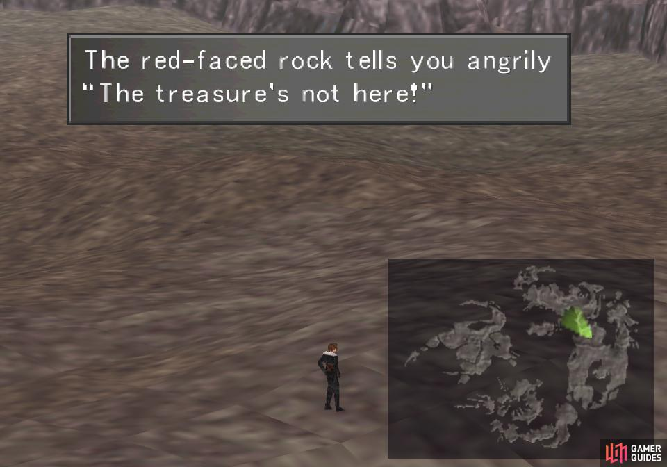 When you find a red face that lies about the treasure being underfoot...