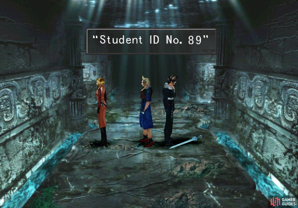 Shortly into the tomb you'll find the student ID you're after
